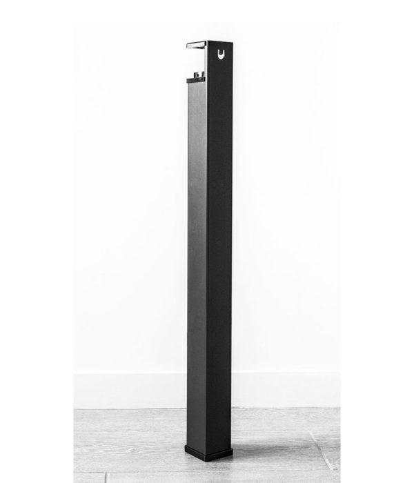 pied modulable bas 750 noir